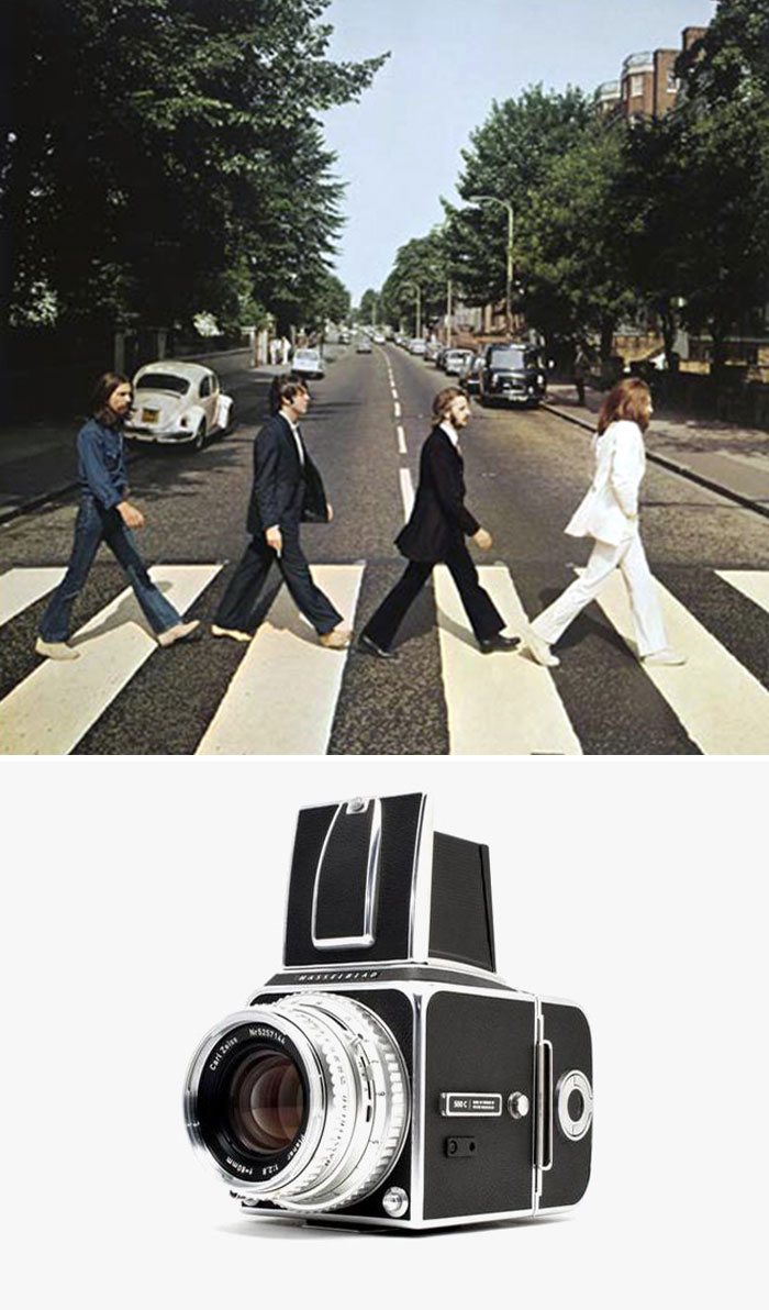 Abbey Road Album Cover By Iain Macmillan, 1969 / Hasselblad