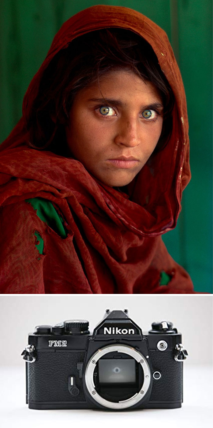 """Afghan Girl"" By Steve McCurry, 1984 / Nikon Fm2"