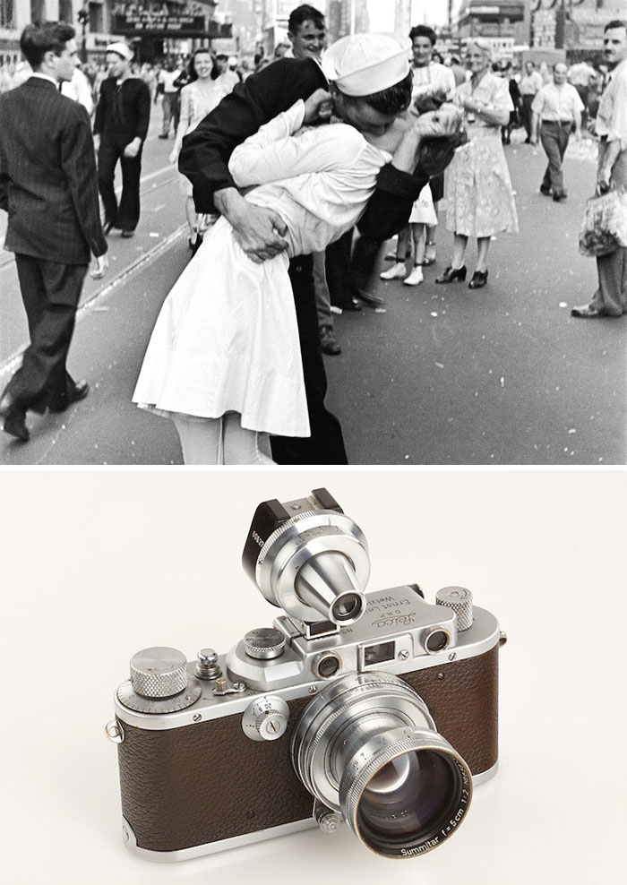 """V-J Day In Times Square"" By Alfred Eisenstaedt, 1945 / Leica Iiia"