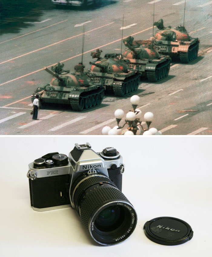 """Tank Man"" By Jeff Widener, 1989 / Nikon Fe2"