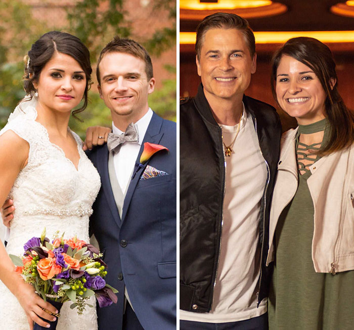 My Wife's Face On Our Wedding Day Compared To When She Met Rob
