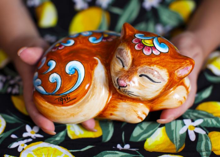 I Handmade A Ceramic Sleeping Cat