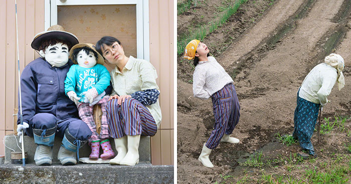 My 16 Self Portraits With Scarecrows Show The Depopulation Problems In Japan