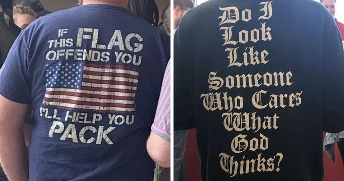 40 Times People Wore Cringy T-shirts Thinking They Look Badass