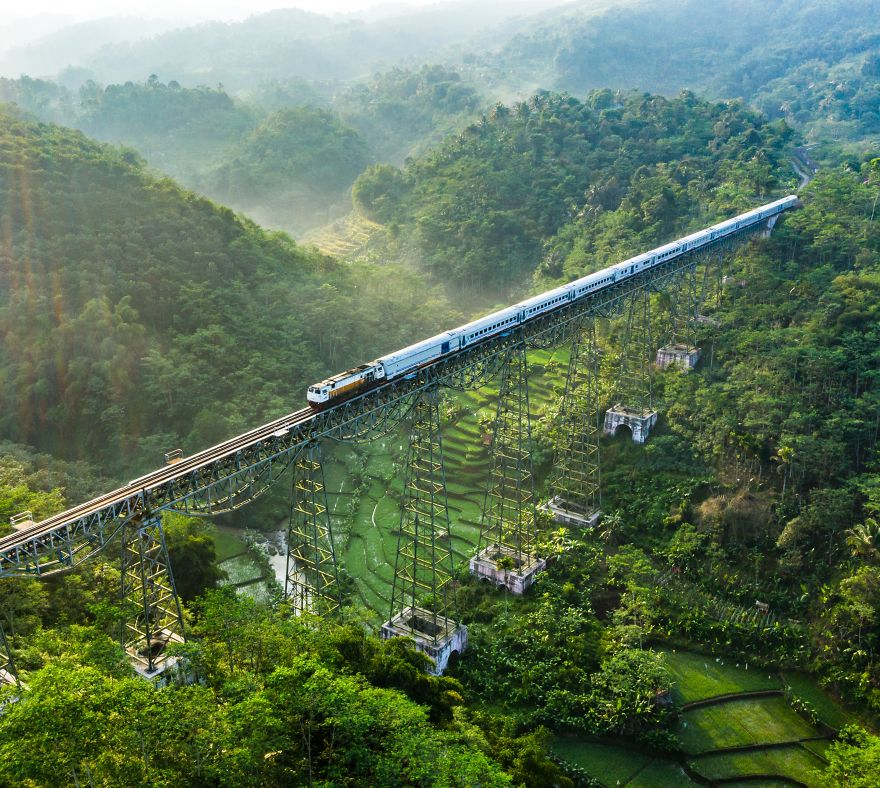 Cikubang Train Bridge, West Java Indonesia