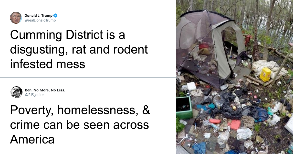 Guy Picks Bad Photos From Republican Districts To Get Back At Donald Trump For His Hateful Baltimore Comments