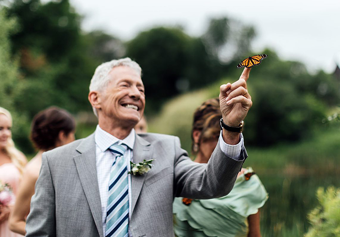 Groom's Family Releases Butterflies During Wedding To Honor His Sister Who Died, One Lands On Father's Hand