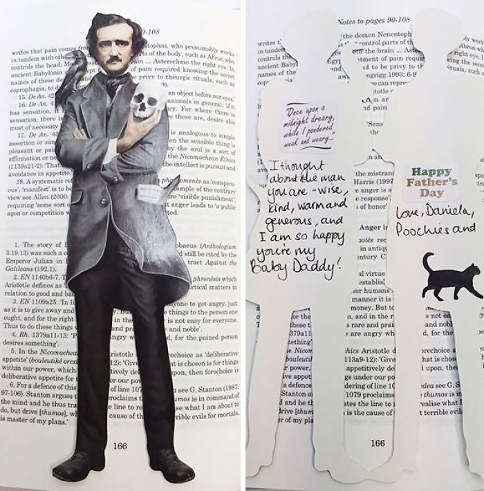 He cogido un libro de la biblioteca y se ha caido Edgar Allan Poe de dentro