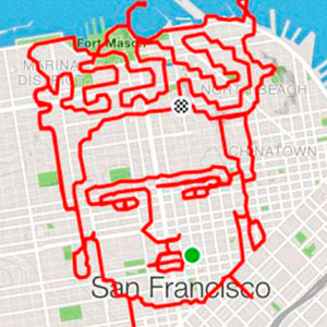 Runner Uses The Streets As His Canvas, Maps Out Artistic Designs With His Routes (31 Pics)