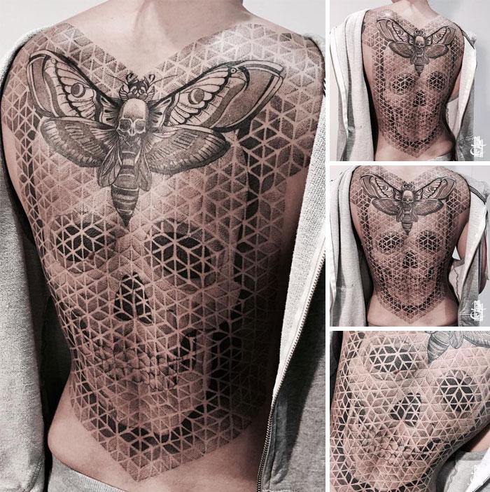 Impressive Detailed Full Back Tattoo