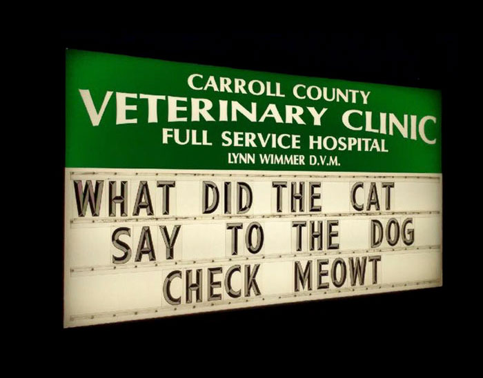 Funny Vet Clinics Signs About Cats Funny-Cat-Veterinary-Clinic-Signs