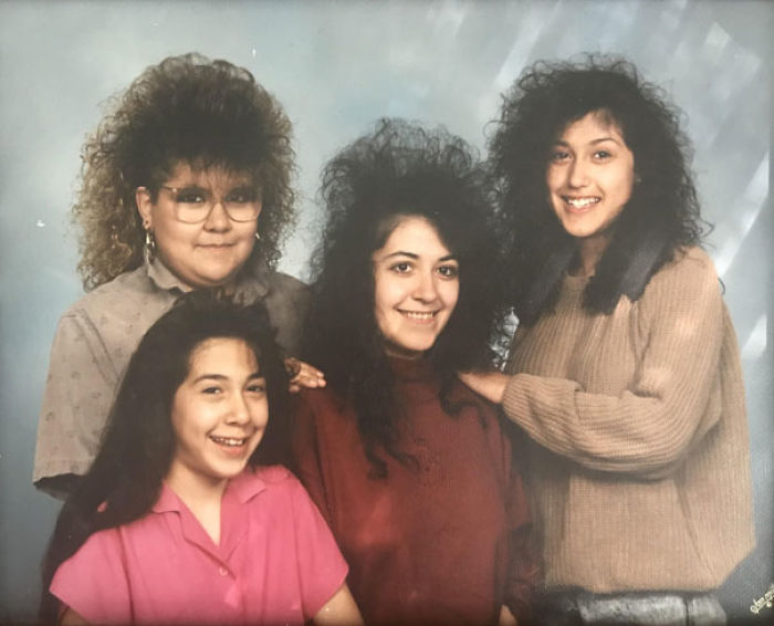 My Mom And Her Sisters, Circa 1990. They Always Tell Me How Much Aquanet It Took To Get Their Hair Like That