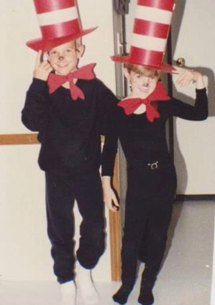 My Brother And I Dressed For Dr. Seuss Day At School. We Ended Up Being The Only Ones Who Dressed Up! A Kids Worst Nightmare!