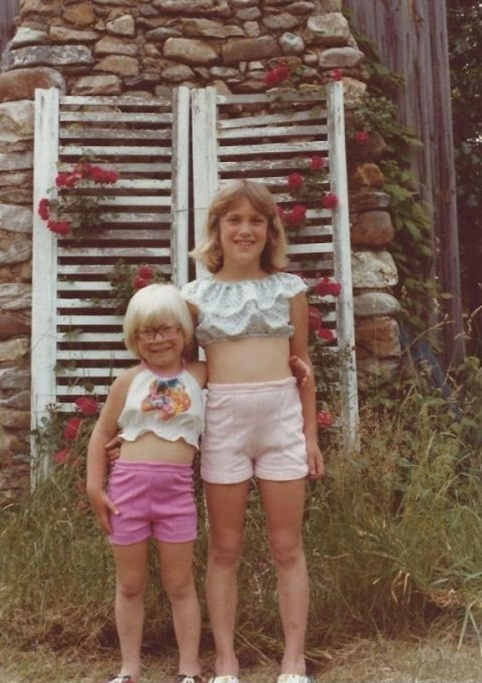 My Mom Thought It Was Appropriate To Dress My Sister And I Like This In The Late 70's