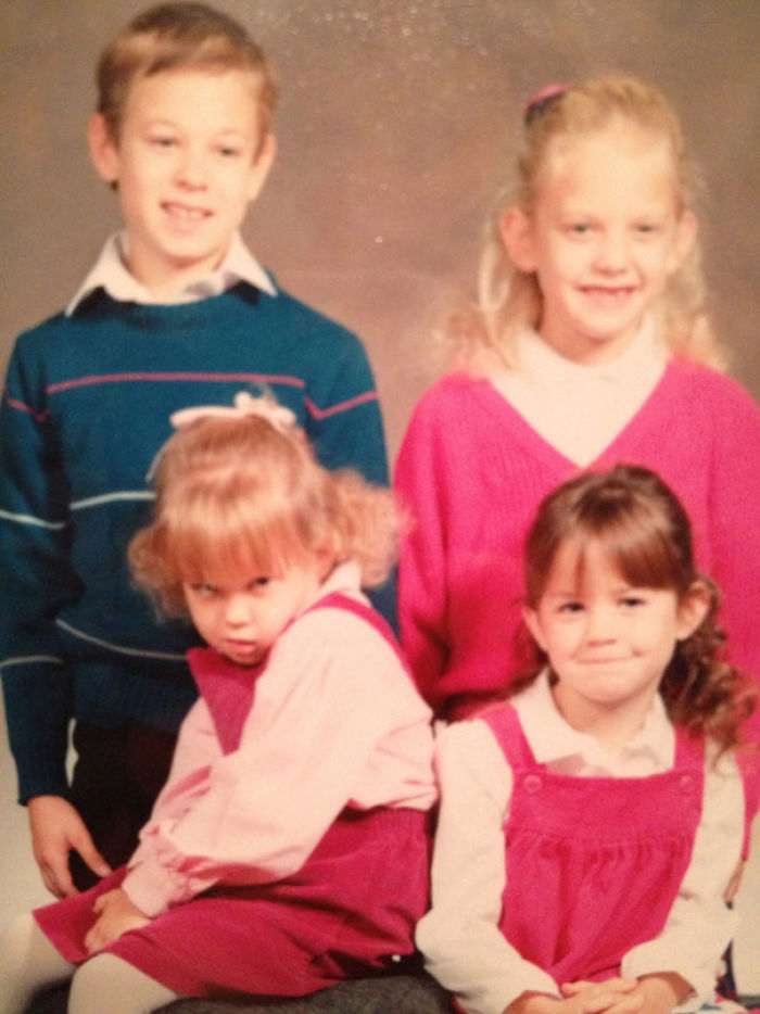 This Is A Photo Of Me And My Three Older Siblings. Such A Nice Photo, Until You See Me In The Bottom Left
