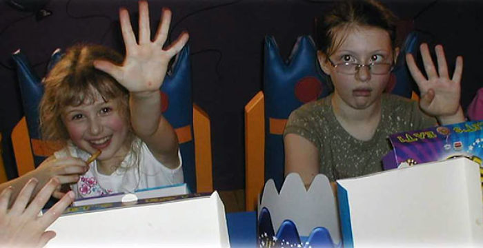 My Blonde-Haired, Blue-Eyed Little Sister On The Left. Me On The Right. Circa 2002