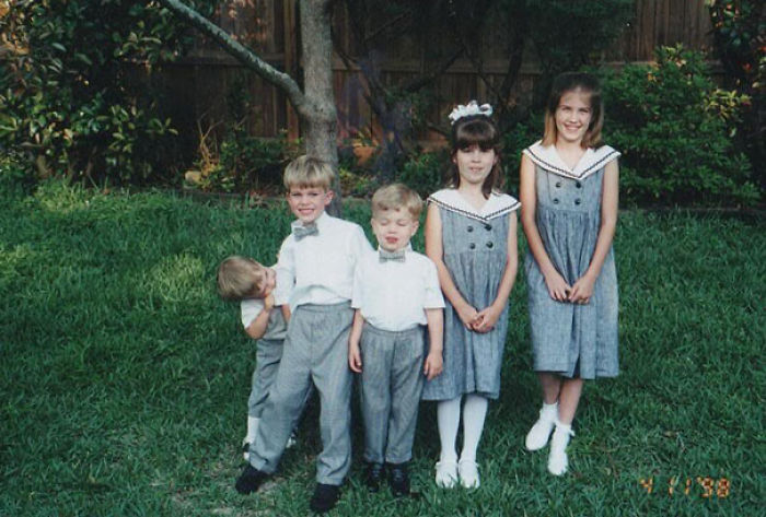 This Is A Photo Of My Siblings And I. Quinton Was A Biter
