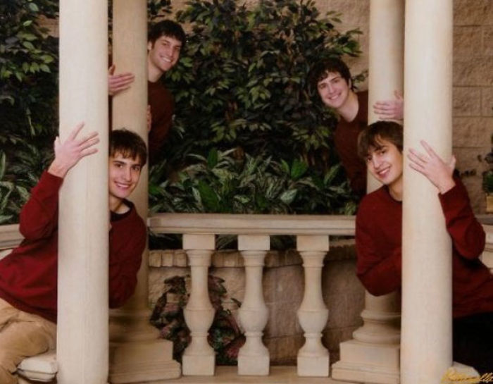 Roman Columns Can't Stop These Brothers From Revealing Their Fun Sides