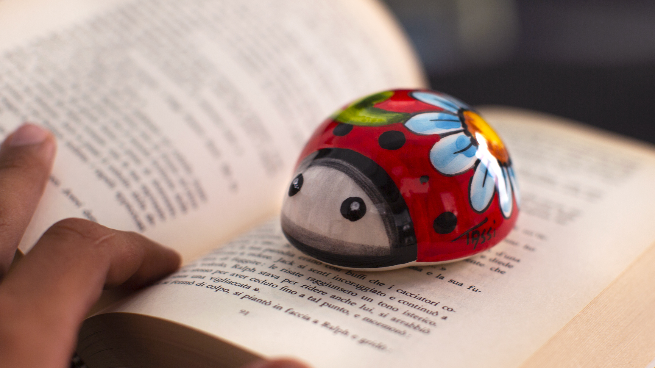 Ceramic Ladybug Figurine Hand Painted And Finished To The Smallest Details With Love In Italy