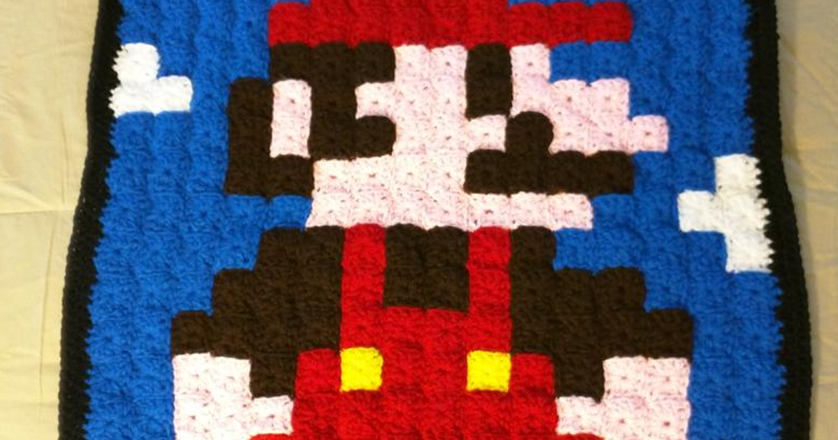 This Grandma Passionate About Crochet Dedicates Handmade Blankets To Retrogaming And Even In Summer, You Will