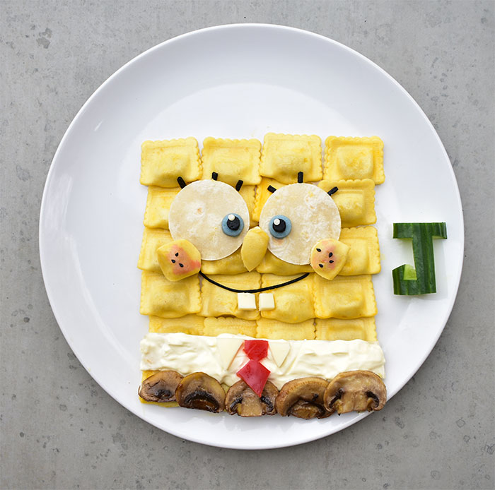 I Create Famous Cartoon Characters From Healthy Meals (19 New Pics)