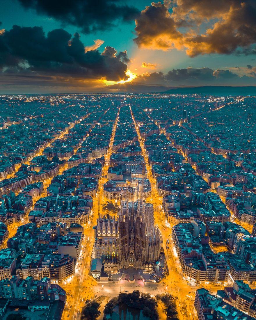 Street Lights In Barcelona
