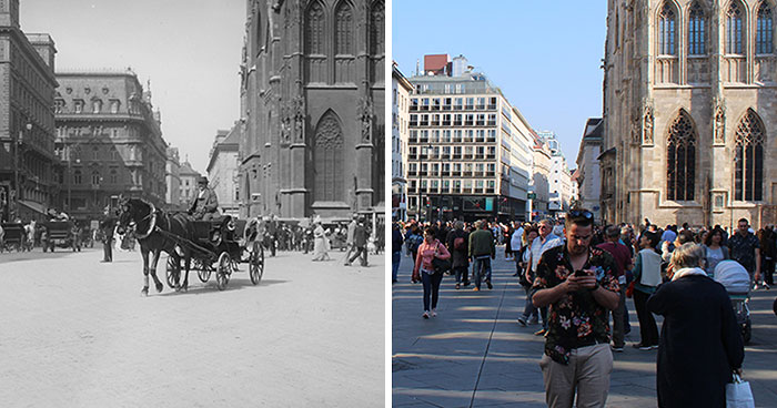 My 10 Retakes Of Historic Images Show The Past And Present Vienna