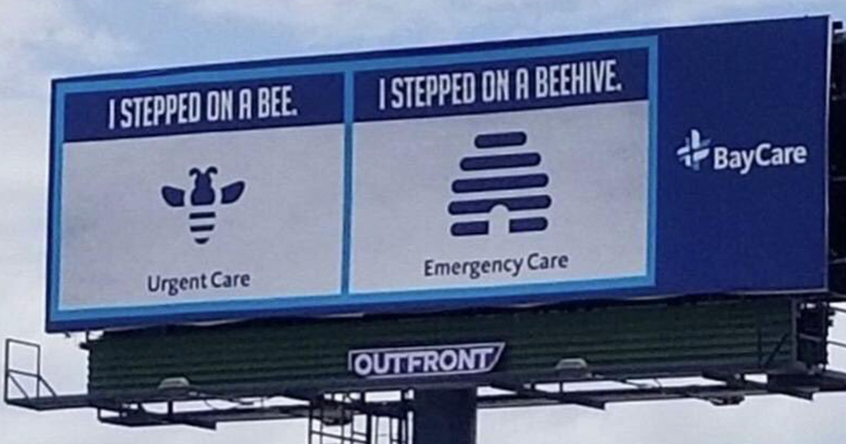 Hospital Displays Funny Billboards Illustrating The Difference Between Urgent Care And Emergency Care