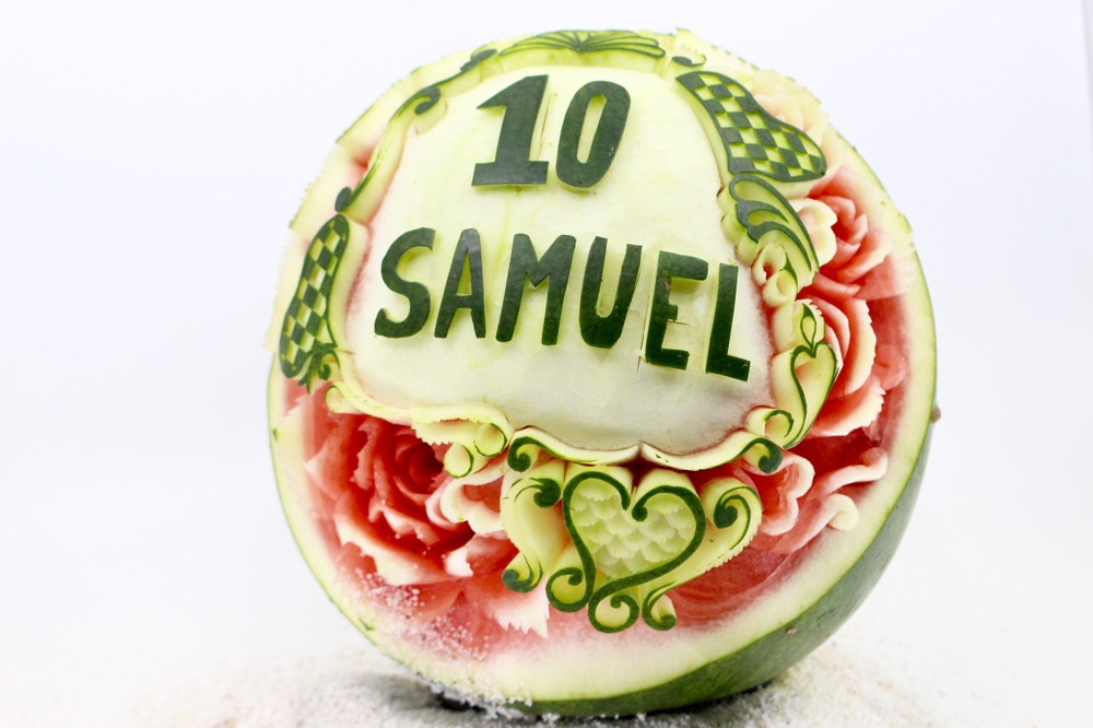 I Carved This Watermelon In The Honour Of My Friend Who Pasted Away A Few Days Ago At The Age Of 22. Rest In Peace Samuel