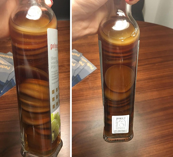 This White Wine Vinegar Gone Bad Looks Like Small American Pancakes Floating In Syrup