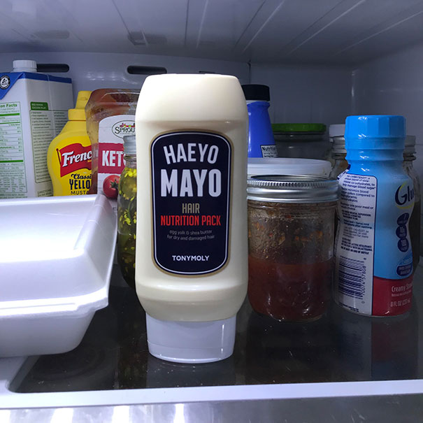 The Cleaning Lady Took This From The Bathroom And Put It In The Fridge