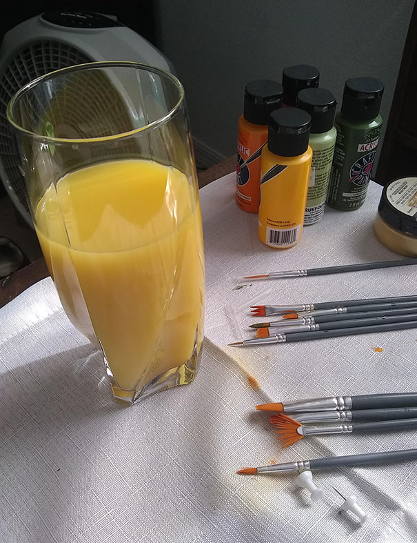 Had To Stop My Wife From Drinking This Forbidden Orange Juice