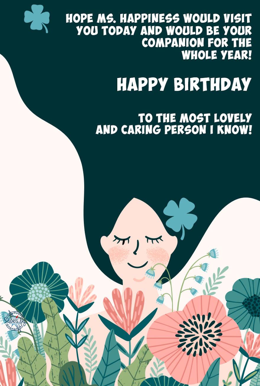 Birthday Card Ms. Happiness