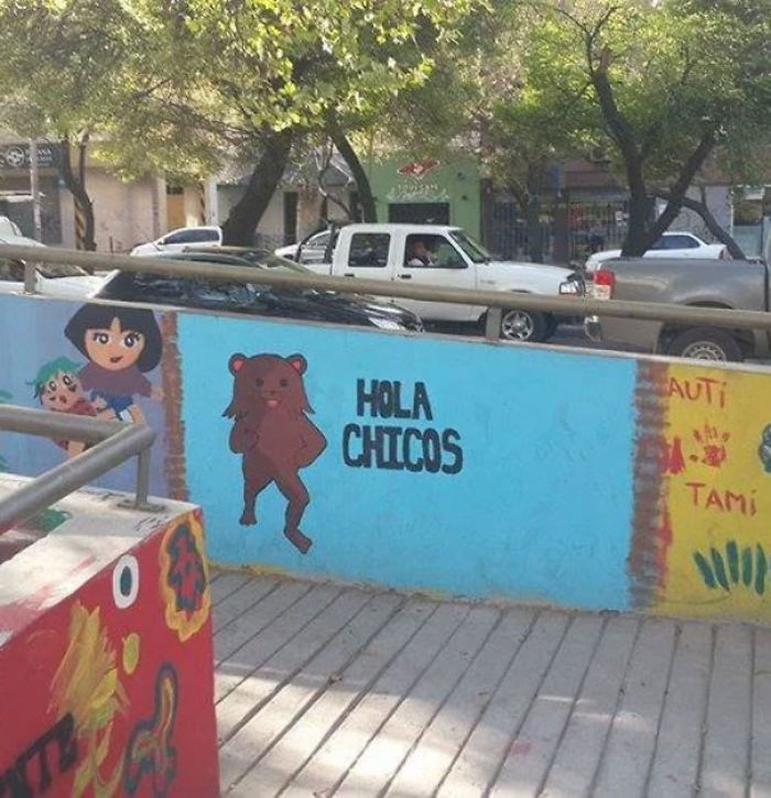 Meanwhile The Artwork At A Childcare Center In Argentina