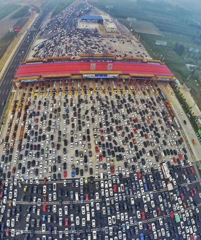 Meanwhile In China (50 Lane Highway Merges Into 4)