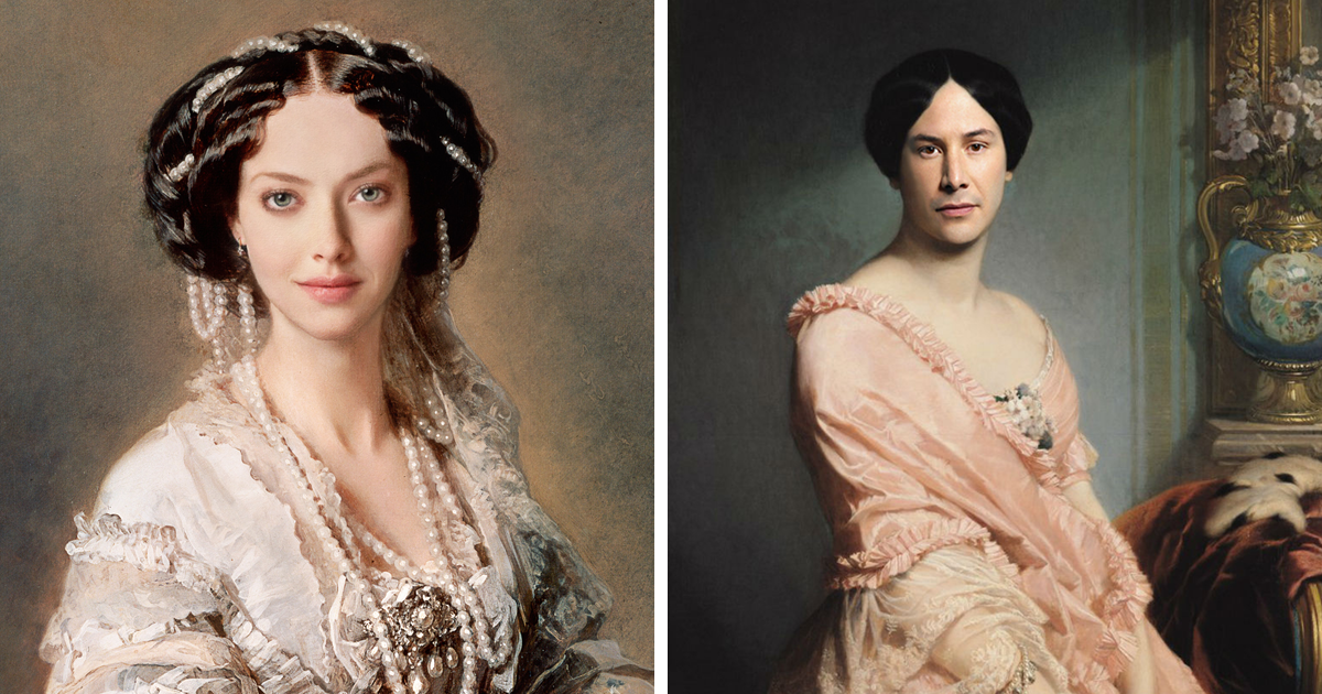 Artists Use Photoshop To Put Faces Of Modern Celebrities Onto Renaissance Paintings