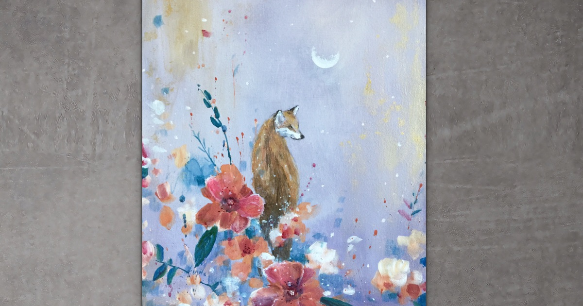 I Love To Paint Magical Creatures And Other Worlds, So Here's My Newest Moon Fox Collection