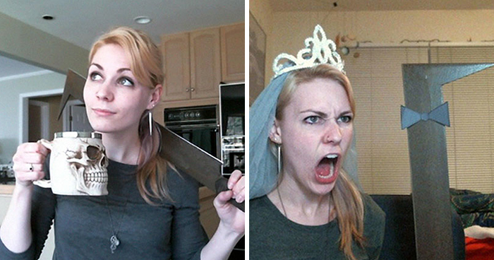 Woman Buys An Uruk-Hai Sword, Shows The World How Helpful It is In Daily Life (17 Pics)