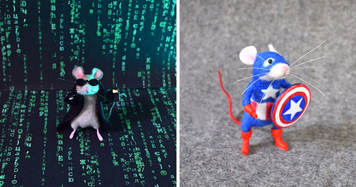 My 22 Of Needle-Felt Mice That I Turned Into Famous Characters
