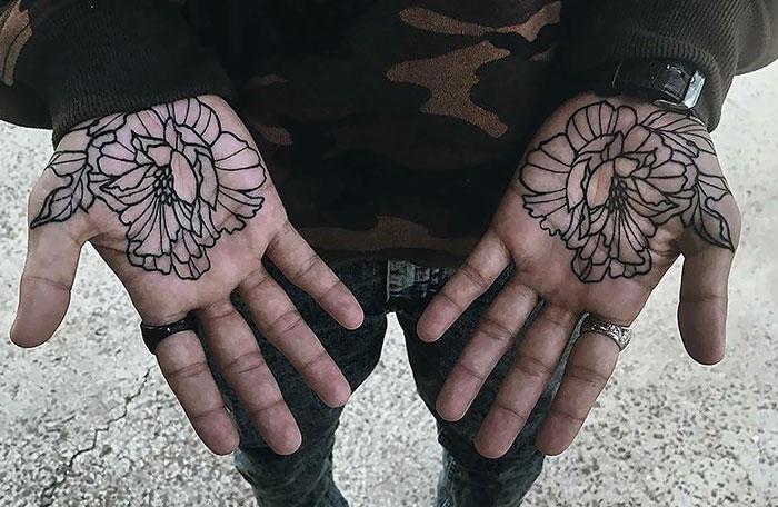 Flowers On Both Palms
