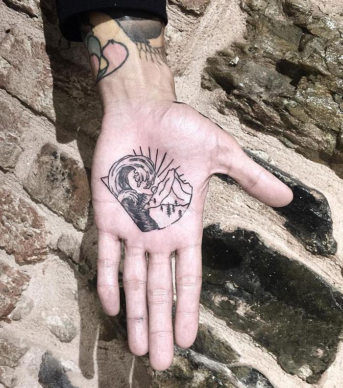 Traveller's Palm Tattoo