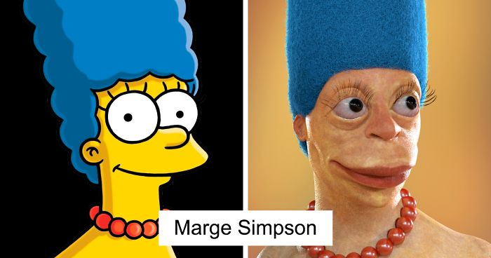 Artist Shows How Cartoon Characters Would Look In Real Life And