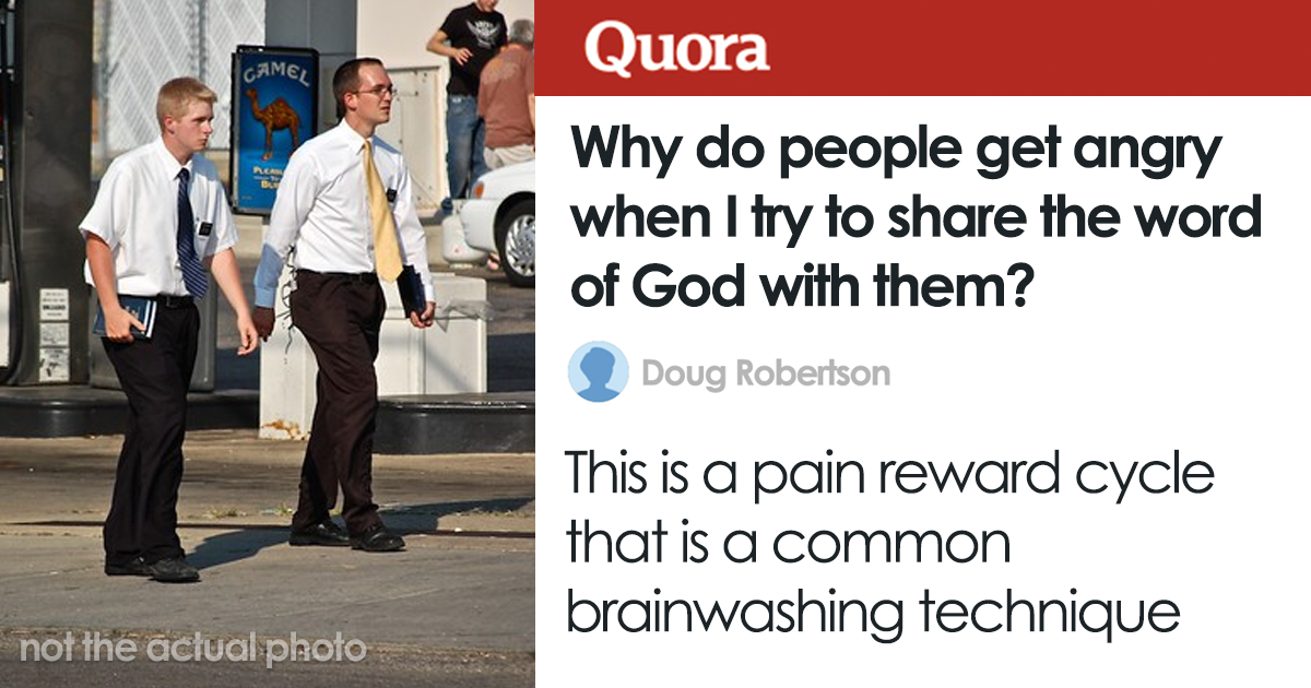 Person Asks Why People Don't Like Their 'Word Of God', Gets To Learn They're Being Brainwashed