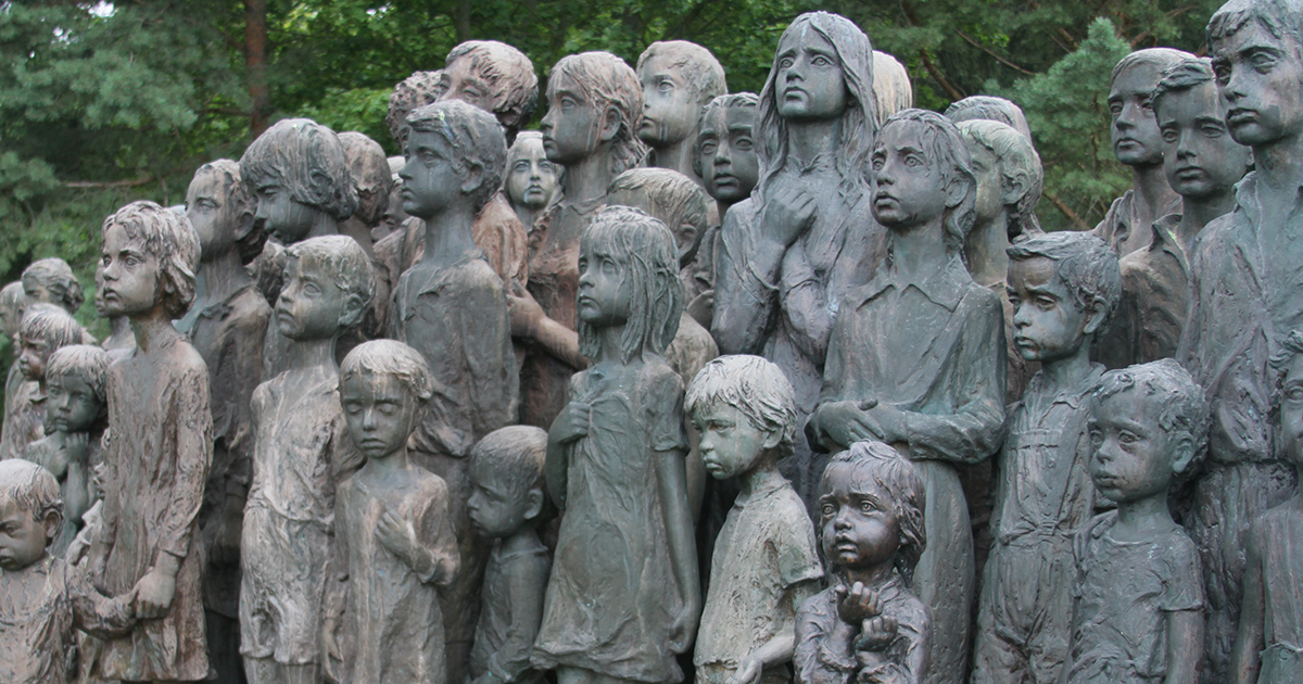 This Heartbreaking Sculpture Depicts The 82 Kids That Were Handed Over To The Nazis In The Town Of Lidice Back