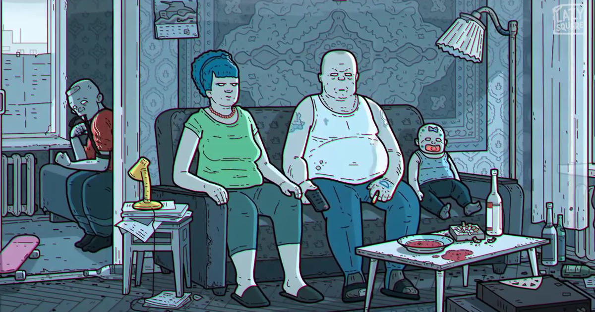 Artist Reimagines The Simpsons As If It Was Set In Russia