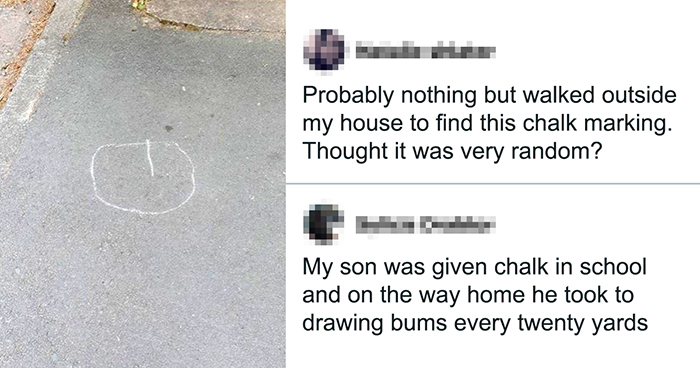 Neighbors Get Nervous Seeing Mysterious Symbols Appearing, Inform The Police, Turns Out It's A Butt