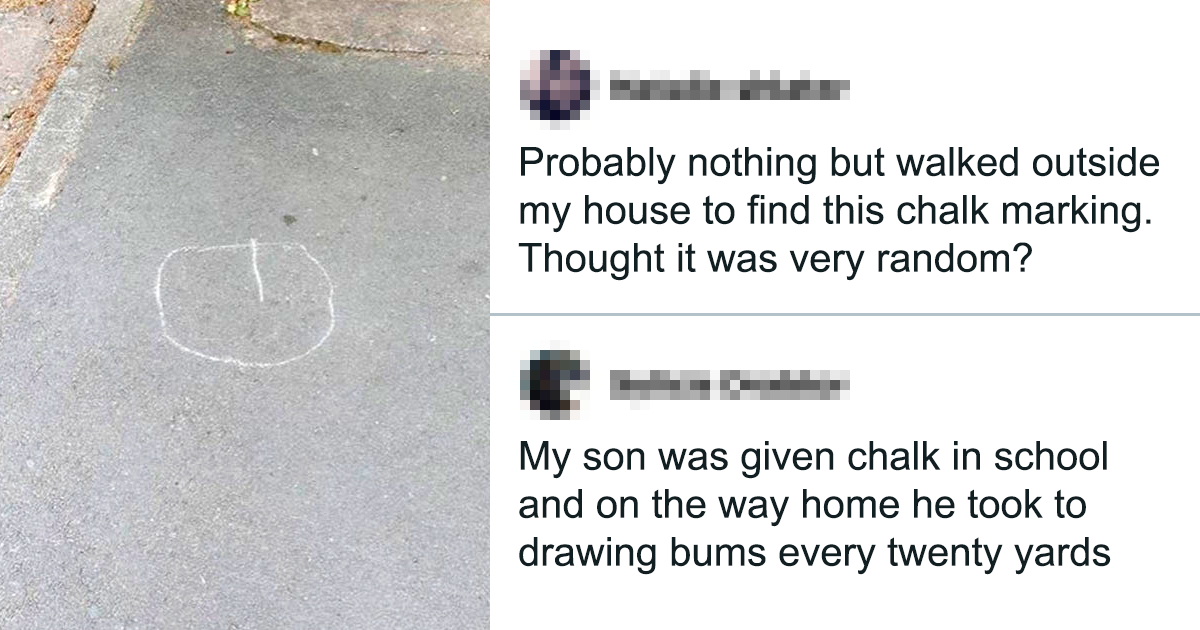 Family Scared Of Weird Sign Near Their House Informs The Police, Turns Out It's Just A Kid Drawing Butts