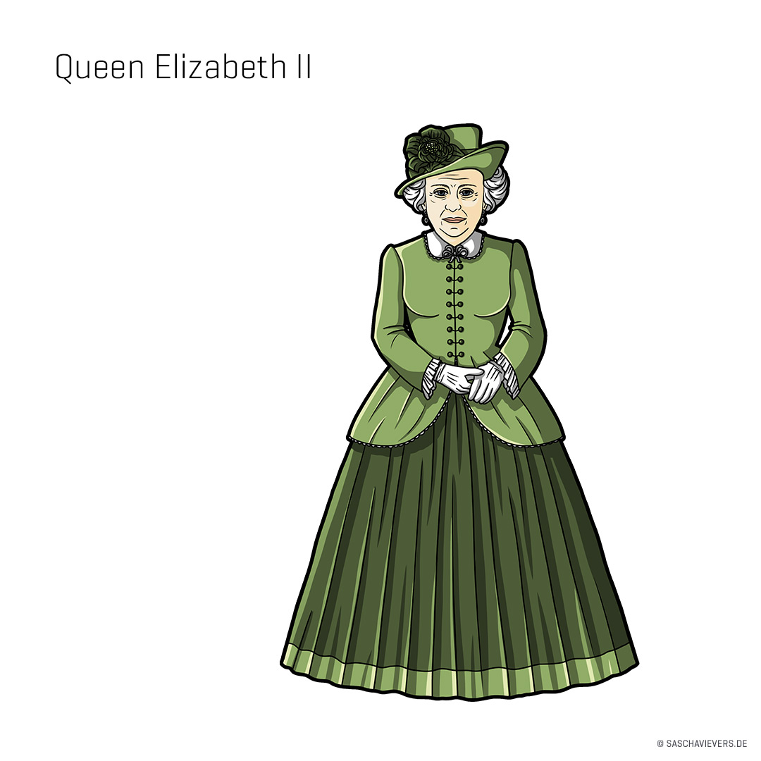 German Artist Draws A Victorian Version Of Celebrities And Famous Characters.