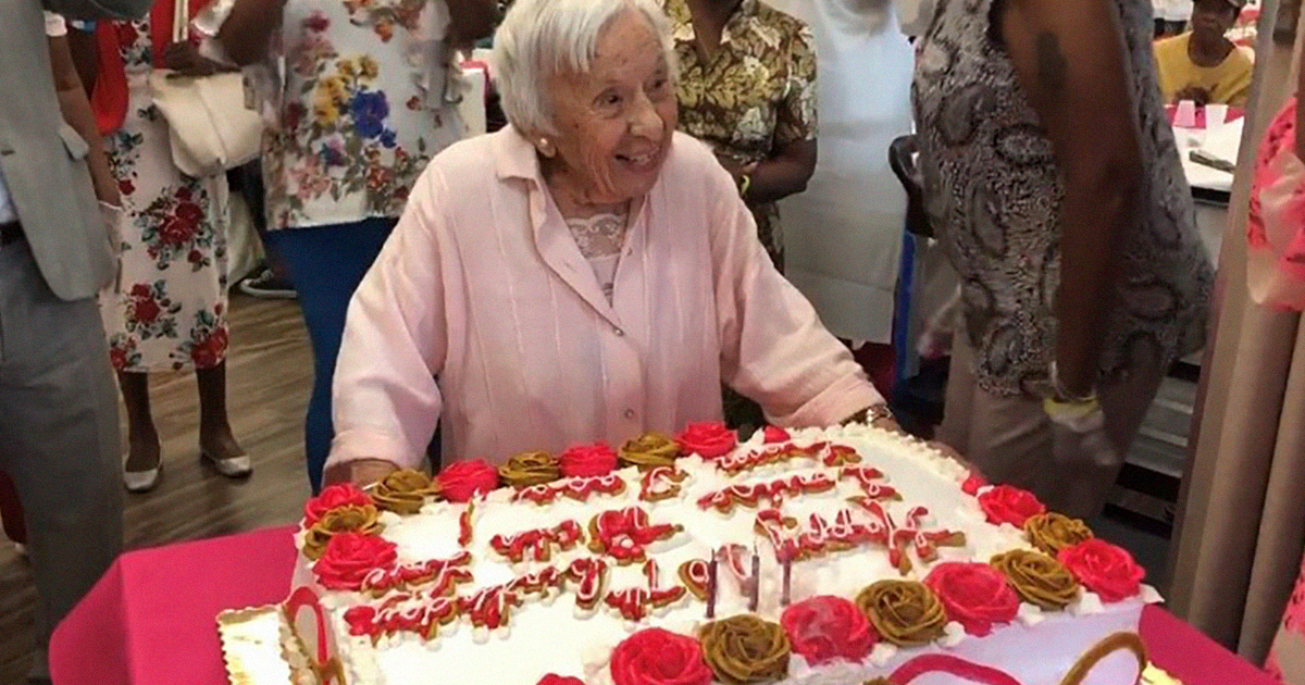 Woman Celebrates Her 107th Birthday, Says Her Secret To Longevity Is Never Getting Married