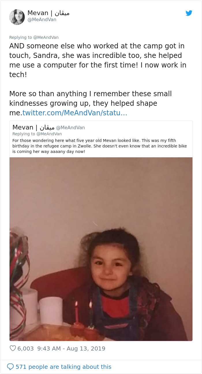 Woman Asks The Internet To Help Find A Man Who Bought Her A Bike When She Was A 5-Year-Old Refugee, The Internet Delivers